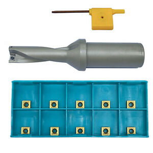 Spmg060204 10pcs With 17 3d c25 Shank Dia 25mm Indexable Fast U Drill Tool