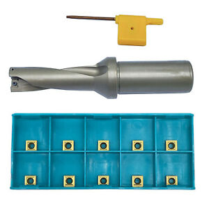 Spmg060204 10pcs With 21 3d c25 Shank Dia 25mm Indexable Fast U Drill Tool