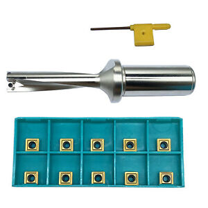 Spmg060204 10pcs With 17 4d c25 Shank Dia 25mm Indexable Fast U Drill Tool