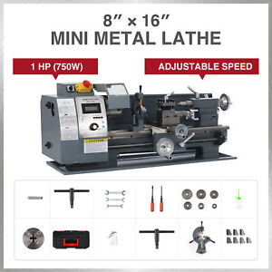 750w 8x16 Inch 2250rpm Metal And Woodworking Mini Lathe With Brushed Motor