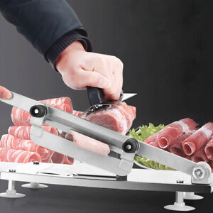 Stainless Steel Manual Meat Slicer Meat Cutter Beef Mutton Roll Meat Food Slicer