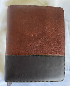 Franklin Covey Classic 1 5 Rings Brown Black Planner binder With Fillers