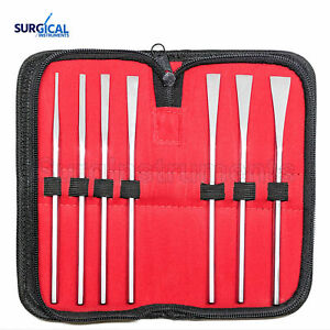 Set Of 7 Sheehan Osteotomes Surgical Dental Instruments