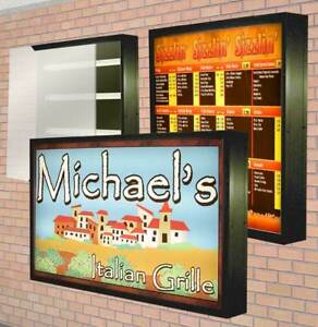 Lightbox Outdoor Illuminated Sign With 2 Graphics Double Sided 4 x8