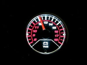 Megan Racing Led Light Volt Meter Tinted Gauge 52mm Mg vt