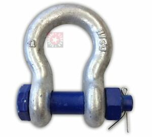 2 Shackle Clevis Safety Pin Peerless 35 Ton Tie Down Lifting Chain Axle Tow
