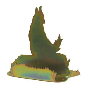 Coyote Gold Metal Business Card Holder