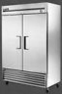 True T 49 Two Door Refrigerator Stainless Casters