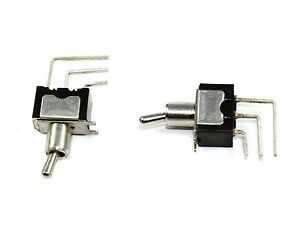 Miniature Toggle Spdt On on Switch Pcb Mount Rating 6a 125vac Lot Of 100