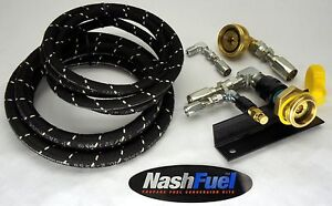 6ft Propane Remote Fill Kit With Mounting Bracket Rv Motorhome Autogas Lpg