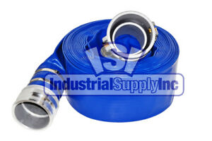 Water Discharge Hose 4 X 50 Ft Blue Camlocks Import Industrial Supply