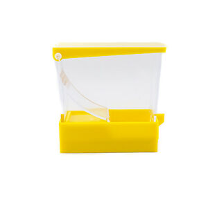 Dental Cotton Roll Dispenser Holder Organizer Deluxe With Pull out Tray Yellow
