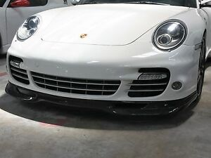 Porsche 911 997 Turbo Carbon Fiber Front Bumper Lower Lip Spoiler Add On
