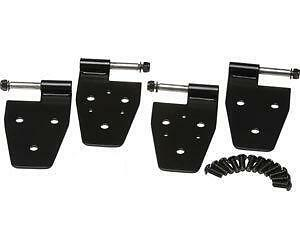 Half Door Hinge Brakets Black 7641 87 06 For Jeep Wrangler Yj Tj