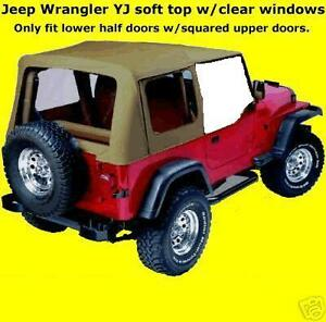 Half Doors Soft Top Spice Tinted 852517 88 95 For Jeep Wrangler Yj