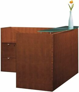 New Jade L shape Office Reception Desk For Receptionist Waiting Room Counter