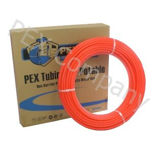 Red 3 4 X 100 Ft Pex Potable Water Tubing Pipe Tube O