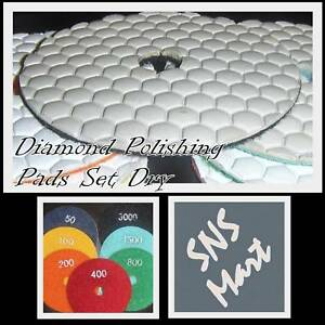4 Diamond Polishing Pad Discs Dry Concrete Granite Set