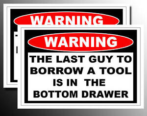 Funny Borrow Tool Snap on Craftsman Decal Sticker