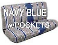 Truck Bench Seat Cover Saddle Blanket Navy Blue 1pc Full Size Ford Chevy Dodge