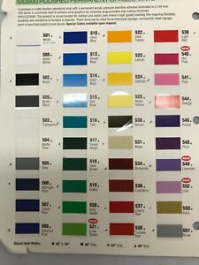 24 Sign Vinyl 8 Rolls 10 ea 26 Colors American Mfg