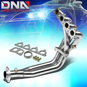 Stainless 4 2 1 Header For Civic Crx Del Sol D Series L4 Sohc Exhaust Manifold