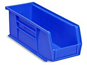Blue Stackable Storage Bin 11 l X 4 w X 4 h Lot Of 12 s 13536blu