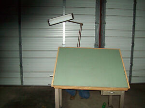Metal Drafting Table With Work Light