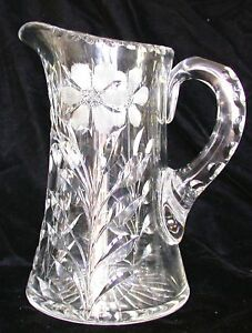 Cut Glass Pitcher Pelton Glass Company