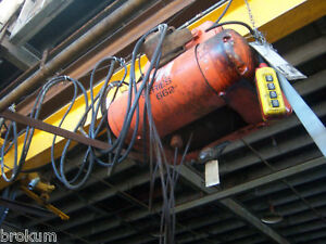 Series Cm662 monitor 3 ton Cable Hoist W 16 Ft Beam