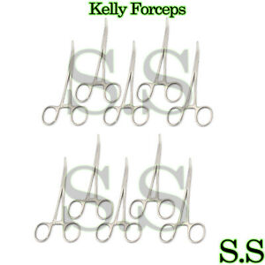 100 Kelly Hemostat Forceps Curved Surgical Veterinary Economy 6 25
