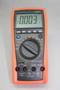 Aidetek Vc99 6999 Auto Range Multimeter Amp C F Temp Analog Bar R C