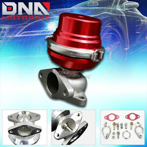 External 35 38mm Turbo Manifold V band Red Wastegate Exhaust 8 Psi Spring