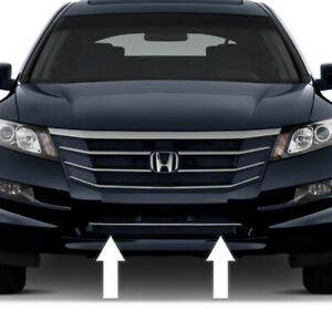 Chrome Front Bumper Grille Trim Molding For Honda Accord 11 12