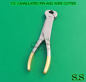 T c Cannulated Pin And Wire Cutter Orthopedic Surgical Veterinary Instruments