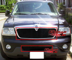 Fits Lincoln Aviator Black Billet Grille Combo 03 06