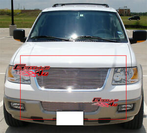 Fits Ford Expedition Billet Grille Combo Upper Bumper 03 06
