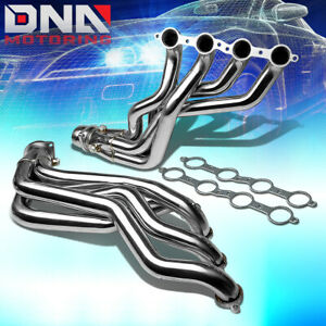 Stainless Long Tube Header For 10 15 Camaro Ss zl1 Ls3 L99 6 2 Exhaust manifold
