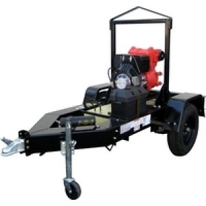 Multiquip s Qp4tz Mounted On Trlr10p Diesel Powered Trash Pump