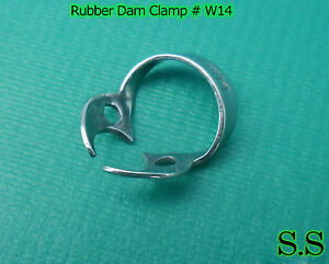 50 Pcs Endodontic Rubber Dam Clamp W14
