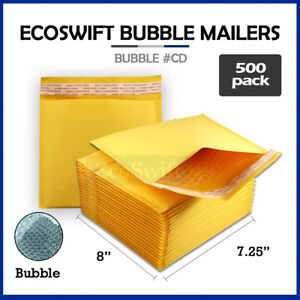 500 cd 7 25 X 8 Kraft Bubble Mailers Cd Rom Envelopes