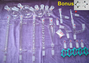Kemtech America Advanced Organic Chemistry Lab Glassware Kit 24 40 30