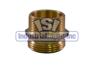Fire Hydrant Adapter 3 Male Npt X 2 1 2 Male Nst Brass