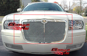 Fits Chrysler 300 300c Stainless Steel Mesh Grille 05 10