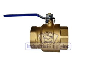 4 Full Port Brass Ball Valve Nptf