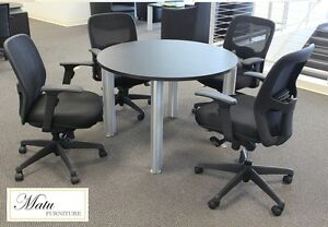 New Verde 42 Modern Round Meeting Conference Room Side Office Table