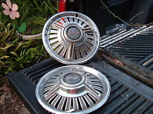 Pair Of Used Ss Wheel Covers 14 Inch Original