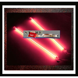 2 X 12 High Brightness Red Pink Neon Light For Car I22