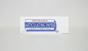 New Dental Articulating Paper Thin Red Red 12 Books box 12 Sheets book 199 00