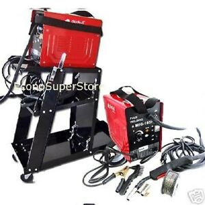 Combo Mig 100 90amp Flux Core Wire Mig Welding Machine No Gas Welding Cart